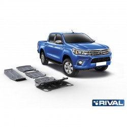 Hilux 2015+ EURO 6  Kit de 4 blindages en alu 6mm RIVAL 23333.9526.1.6