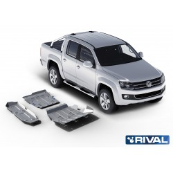 Amarok 2010/2016 Kit de 3 blindages en aluminium 6mm RIVAL 23333.5821.1.6