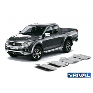 Kit de 4 Blindages en  aluminium 6mm RIVAL pour Fiat Fullback 23333.4046.1.6