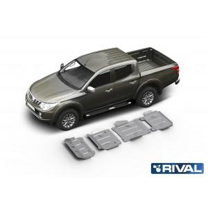 Kit de 4 Blindages en  aluminium 6mm RIVAL pour L200 après 2015 23333.4046.1.6