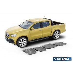 Kit de 4 Blindages en  aluminium 6mm RIVAL pour Classe X 23333.3943.1.6