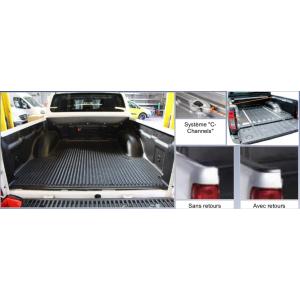 Bac de benne Navara D40 Double Cab 2006 à 2015  avec rebords