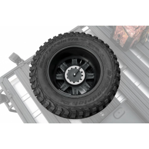 Support porte roue de secours pour galerie de toit rival