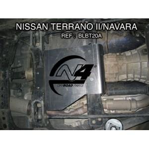 Nissan Navara D22  Blindage boite de transfert