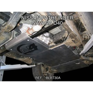Nissan Navara D40 de 2005 à 2012 Blindage boite de vitesse + boite de transfert