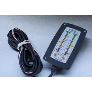Indicateur de charge de batterie double à encastrer