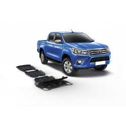 Hilux 2015+ EURO 6  Kit de 3 blindages en alu 6mm RIVAL 23333.5711.1.6